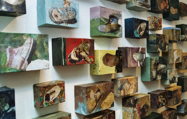 Ilse sabbert, art, installation, object, painting, acrylic, photography, encaustic