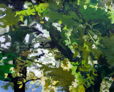 Ilse Gabbert, Mondo Verde #3, oil painting on canvas, 31 x 39,3 in