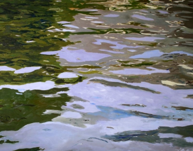 "Ilse Gabbert, Kaagerplas #1, oil on canvas, 43,3 x 55,1 in, from the series ""water paintings"""